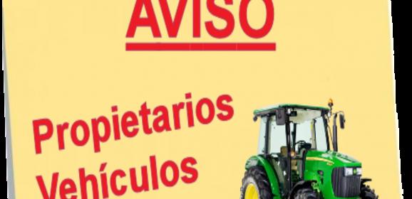 Aviso Propietarios Vehículos Agrícolas