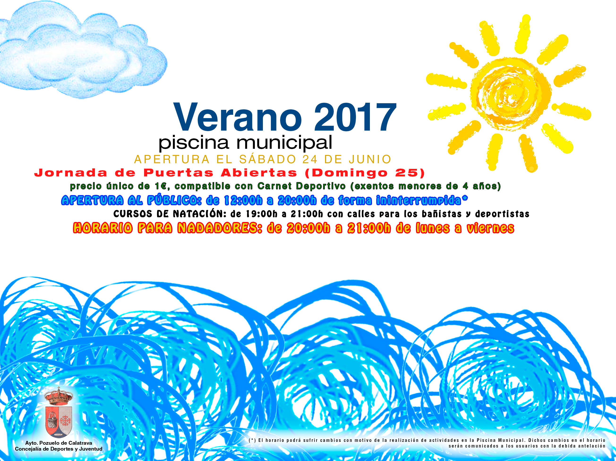 Nueva temporada piscina municipal 2017 pozuelo de calatrava for Piscina municipal pozuelo