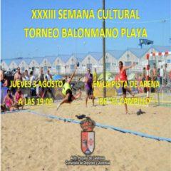 Torneo Balonmano Playa